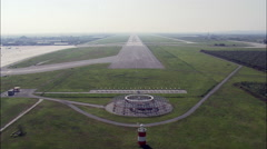Landing At Verona Airport Stock Footage