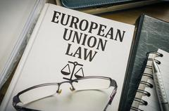 European Union Law. Legislation and justice concept. - stock photo