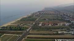 Giulianova aerial Stock Footage