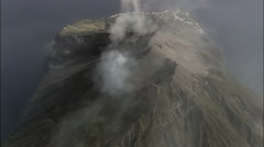 Stromboli aerial Stock Footage