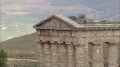 The Doric Temple At Segesta Stock Footage