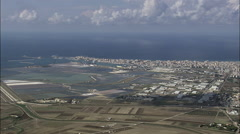 Salt Pans At Trapani Stock Footage