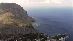 Mondello And Capo Gallo Stock Footage