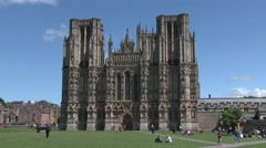 Wells Cathedral Stock Footage