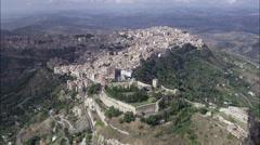 Castillo Di Lombardia, Enna Stock Footage