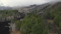 Recent Lava Flows From Mount Etna Stock Footage