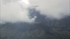 Old Lava Flows And Craters At Mount Etna Stock Footage