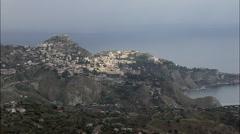 Taormina aerial Stock Footage