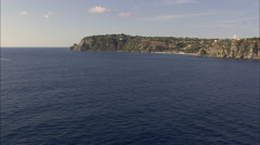 Approaching Capo Vaticano Stock Footage