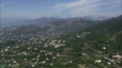 Flight Through Mountains Towards Vesuvius Stock Footage