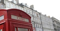 British Phone Booth in Edinburgh, Scotland - stock photo
