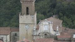 Pitigliano aerial Stock Footage