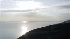 Elba Coastline In Late Afternoon Light Stock Footage