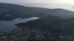 Porto Azzurro At Dusk Stock Footage