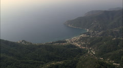 Moneglia aerial Stock Footage