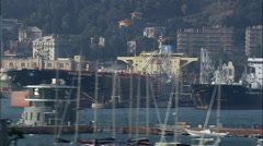 Genoa Harbour Stock Footage