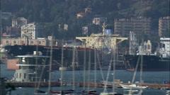 Genoa Harbour Stock Footage