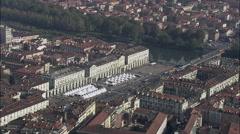 Turin aerial Stock Footage