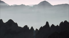 Crossing The Alps At Dusk Stock Footage