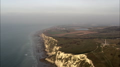 Cap Blanc Nez And Ships In Channel At Sunset Stock Footage