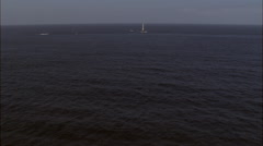 Bishop Rock Lighthouse Stock Footage