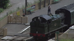 Swanage Railway At Corfe Castle Stock Footage