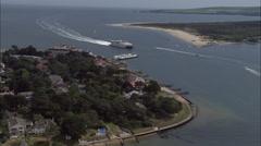 Sandbanks aerial Stock Footage