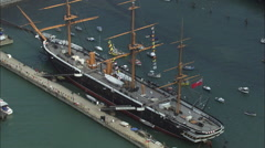 Hms Warrior Stock Footage