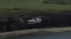 Air Sea Rescue Off Swanage Stock Footage