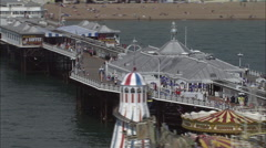 Brighton Pier Stock Footage