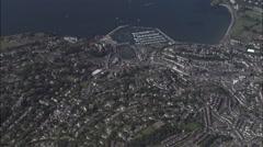Torquay aerial Stock Footage