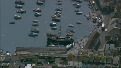 Brixham And The Golden Hind Stock Footage
