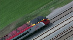 High Speed Train Near Rugeley Stock Footage