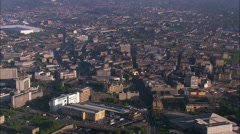 Approaching Bradford At Dawn Stock Footage