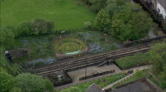 Grosmont aerial Stock Footage