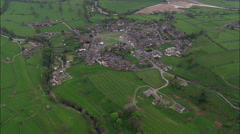 Reeth aerial Stock Footage