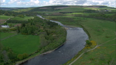 River Spey Near Cragganmore Stock Footage