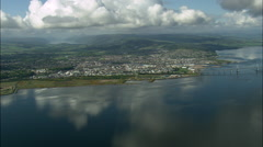 Over The Moray Firth To Inverness Stock Footage
