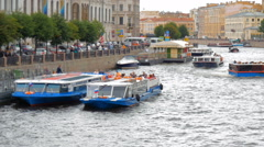 ST.PETERSBURG, RUSSIA - JULY, 2016: One of the rivers of St. Petersburg Stock Footage