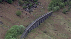 Glen Ogle And Old Viaduct Stock Footage