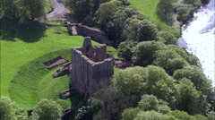 Norham Castle Stock Footage