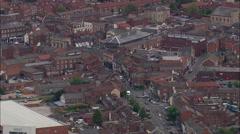Grantham aerial Stock Footage
