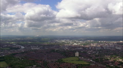 Nottingham aerial Stock Footage