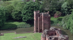 Kirby Muxloe Castle Stock Footage