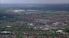 Nuneaton aerial Stock Footage