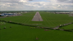 Landing And Taking Off From Coventry Airport Stock Footage