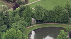 Althorp aerial Stock Footage