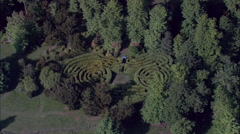 Shrublands aerial Stock Footage