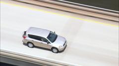 Car Crossing Lake Pontchartrain Causeway Stock Footage