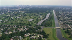 Flood Gates On Bayou St John Canal And New Levee Sections Stock Footage